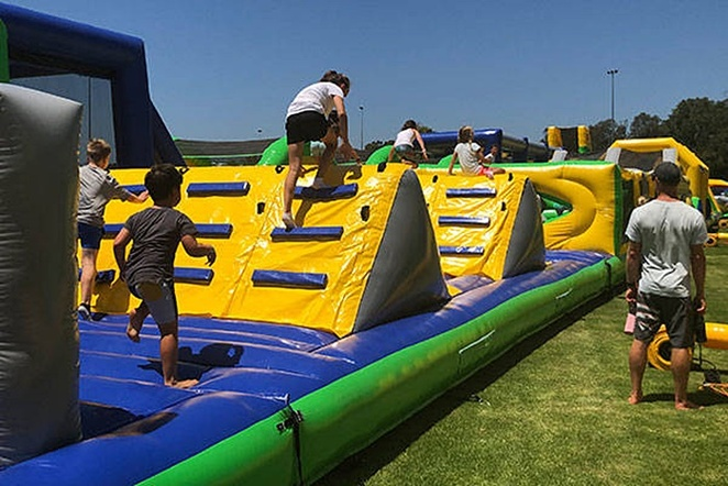 tuff nutterz, canberra, ACT, school holidays, october, whats on, things to do, inflatable obstacle course, ACT,