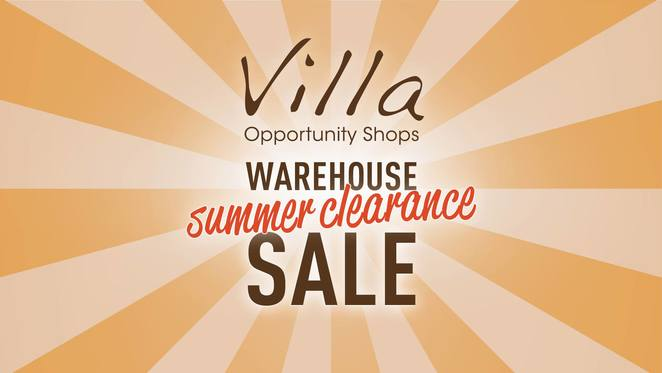 villa opportunity shops, op shop warehouse sale, op shop summer clearance, community event, fun things to do, op shopping, secondhand items, preloved items, upcycled items, wantirna south, fashion, homewares, furniture