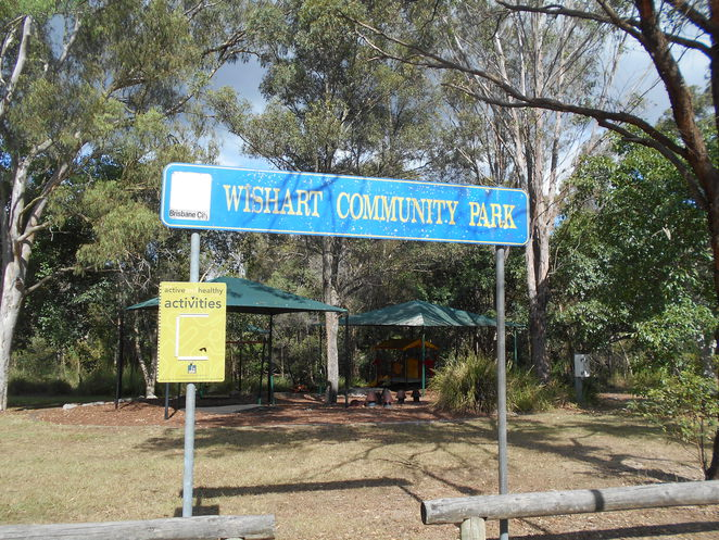 wishart, park, walking track, playground