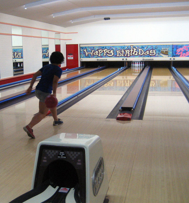 Bowling is a great rainy day activity