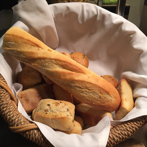 bread,and,rolls,at,the,Hyatt,buffet