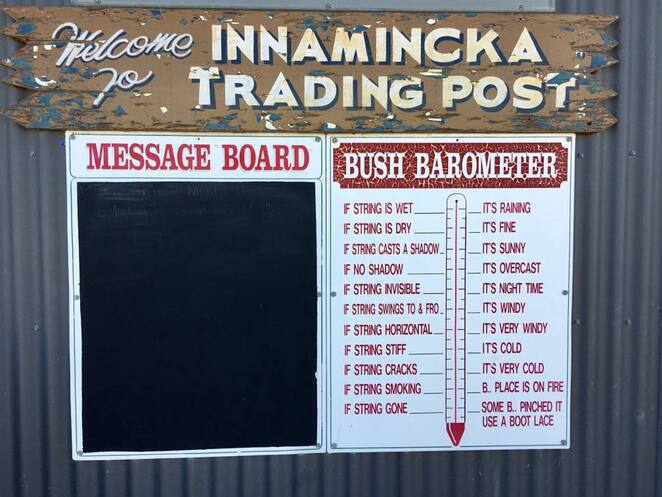 Quirky Innamincka Trading Post is just around the corner from Burke's Grave