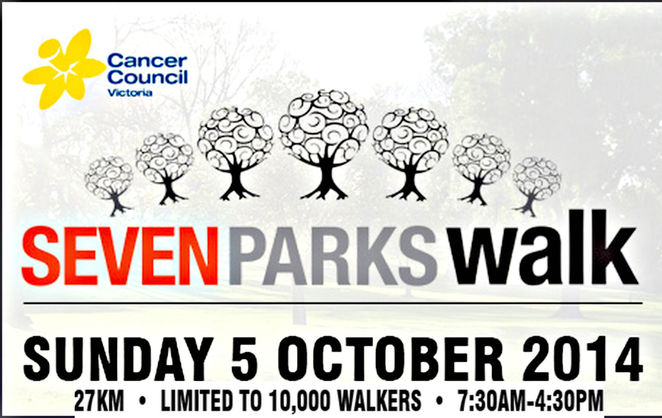 cancer victoria, melbourne, donate, volunteer, 7 parks walk, event, fundraising, charity, cancer, walking event, walk