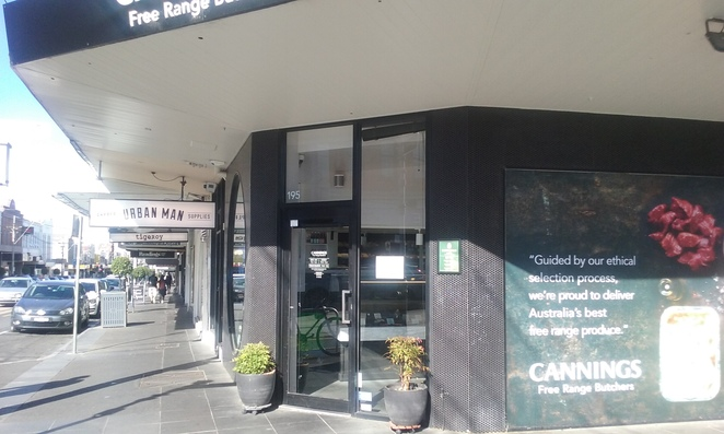 Cannings butcher entrance Glenferrie Rd Malvern