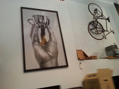 Some of the distinctive artwork at Coffee Branch