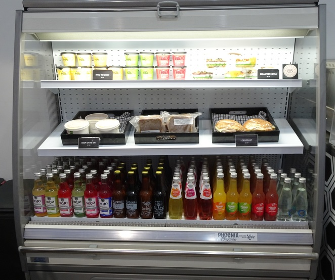 cold drinks, snacks, refrigerated unit
