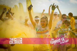 color run, swisse, run, fun run, sunshine coast, the color run, stockland park
