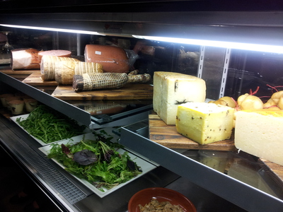 Cured meats and cheeses for degustation delights