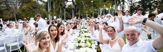 Diner En Blanc White Picnic Hipster Exclusive Event French