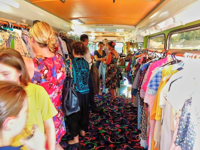 Dulcies Shop of Real Opportunity, Dulcie, boutique bus, vintage, retro, clothing, hutt street centre, charity, adelaide, vintage fashion