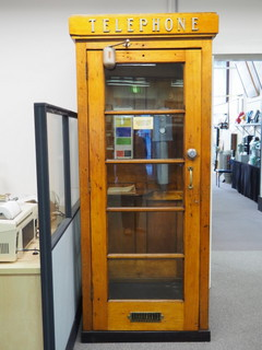 early telephone box, Museum