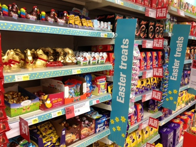 Easter, eggs, shop, chocolate, display, treats