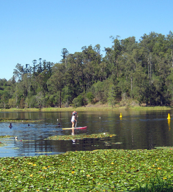 Swimming area at Enoggera Dam