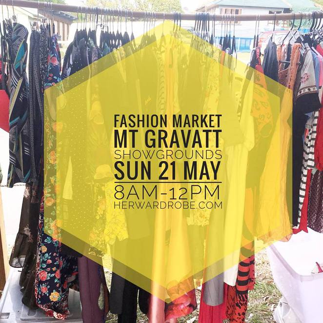 Her Wardrobe Fashion Markets, Mt Gravatt, Gold Coast, fashion-savvy shoppers, pre-loved, vintage, Indie, maker, creator, shopping, selling, clear out your cupboards, happiness is shopping