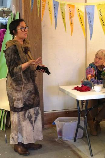 Jane Millburn, RGQ, reverse garbage, textile beat, textiles, clothing repair cafe. slow clothing