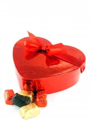 Love Heart Gift Box with Ribbon