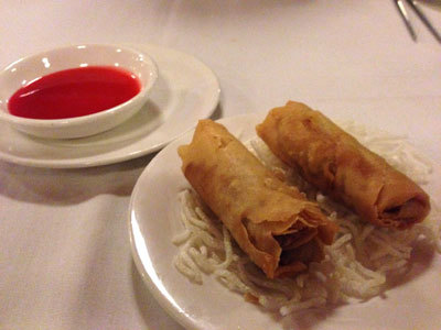 Mandarin Court spring rolls, Best Gold Coast Chinese Restaurant, good chinese food,