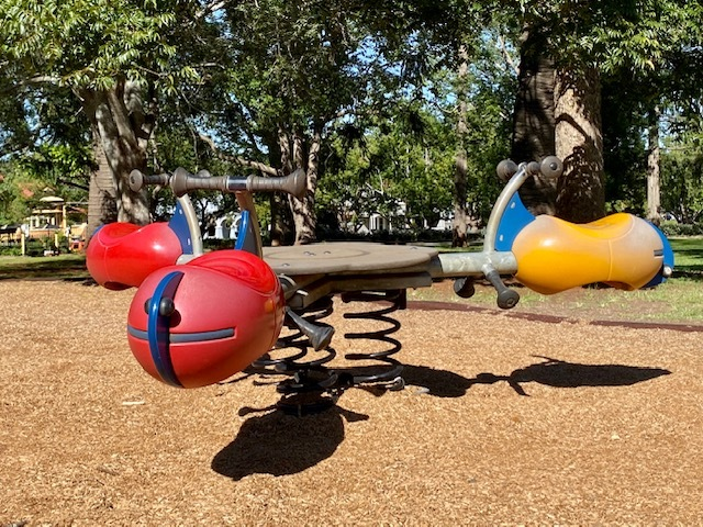 Margaret St Playground has a great variety of equipment for all ages