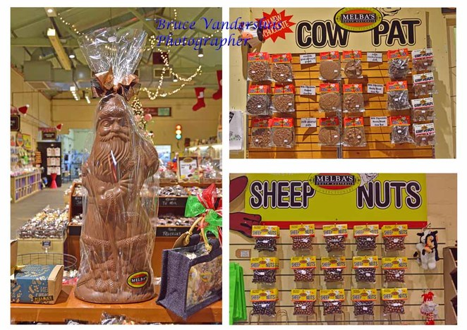 melba's, melbas, chocolate, confectionary, factory, Christmas, gift bags, coffee shop, rocky road, coffee beans, hot chocolate, nuts, sheep nuts, cow pats