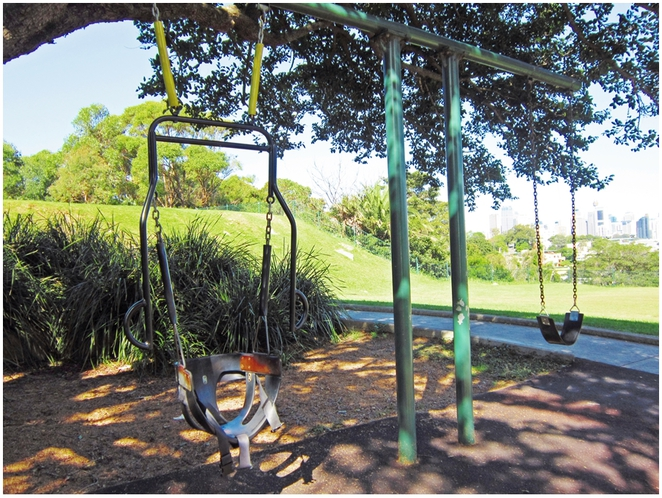 Merrett Playground, Waverton Peninsula, Waverton Station, waverton Park, Sydney playground, Swing,