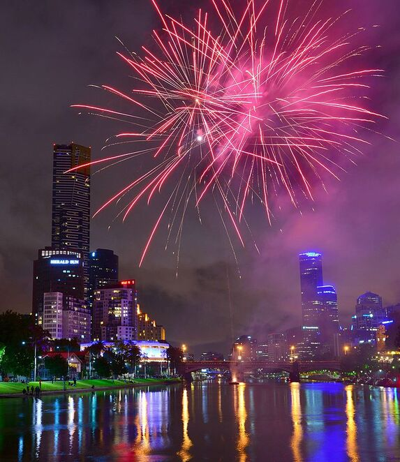 new years eve fireworks melbourne victoria australia