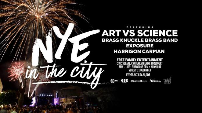 new years eve in the city, canberra, 2017, 2018, fireworks, free, shows, family,