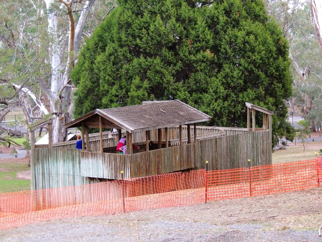 playground in, a playground, playgrounds, park in adelaide, adventure playground, play equipment, belair national park, walking trails, wooden fort