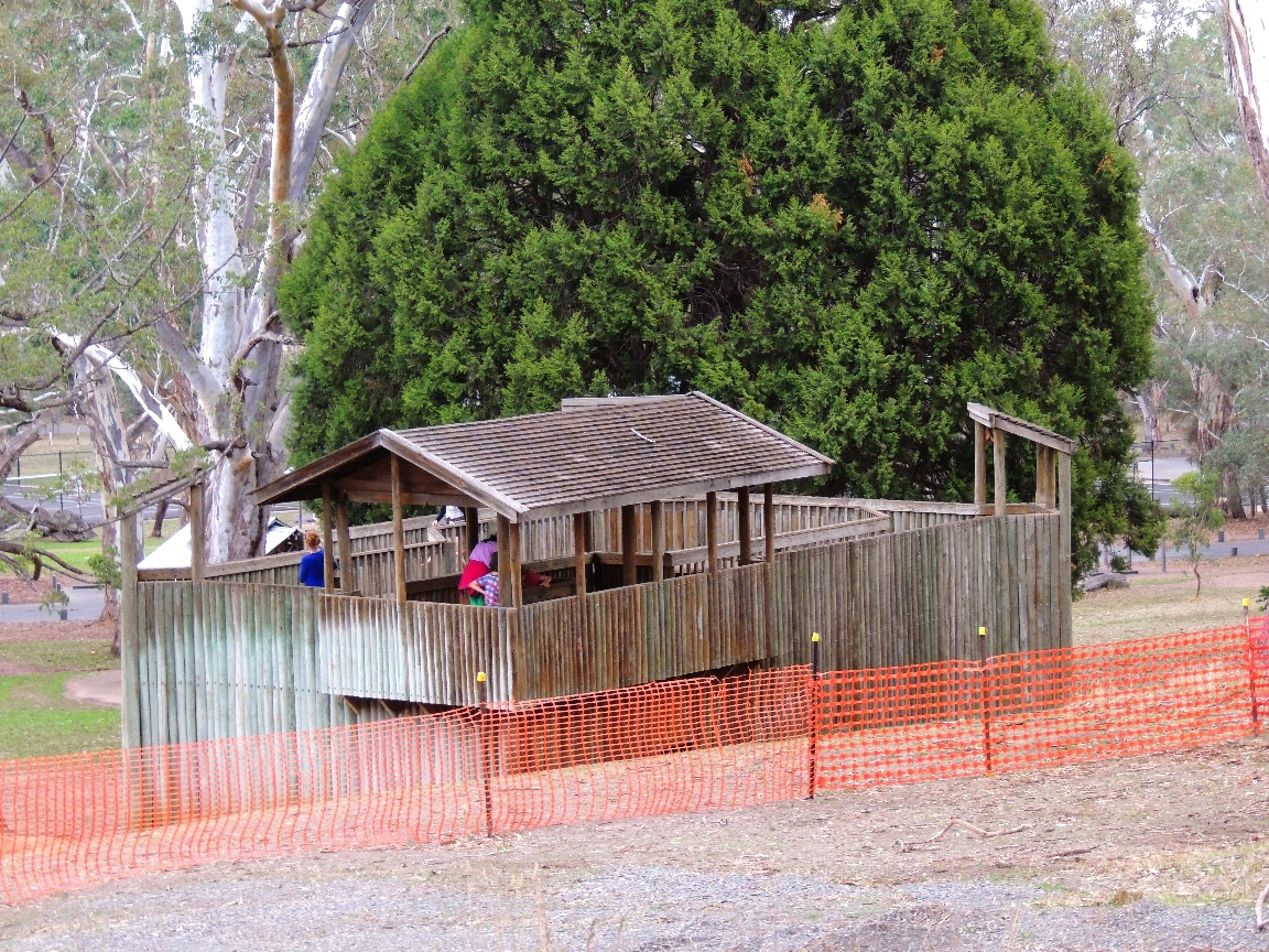 Playground In A Playgrounds Park Adelaide Adventure Play Huge Wooden Fort The