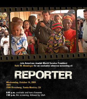 Invitation to Screening of 'Reporter'