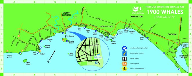 SA Whale Centre sighting map