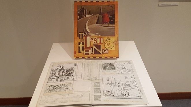 Shaun Tan The Lost Thing Exhibition, Shaun Tan, The Lost Thing, Books Illustrated, Hurstville Museum & Gallery, Passion Pictures Australia, picture book, author, illustrator, family exhibition, art exhibition, community exhibition