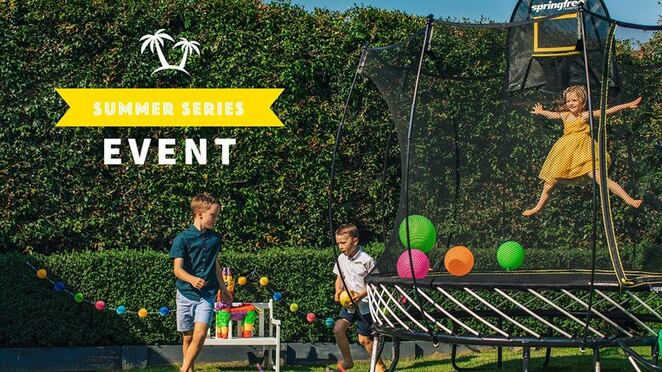 springfree summer series, pop up jump hub, first fleet park, springfree trampoline, community event, fun things to do, the rocks, family activity, for for kids, trampoline jumping, face painting, fairy floss, lawn games, gift bags, active fun, free event, sport, exercise, keep fit