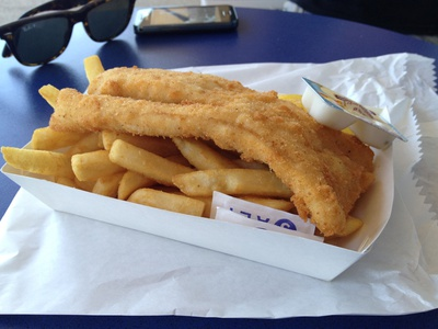 The humble fish and chips for $10.70