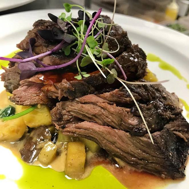 Today chef's lunch special Sous Vide Skirt Steak