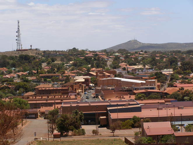 View over the town of Whyalla