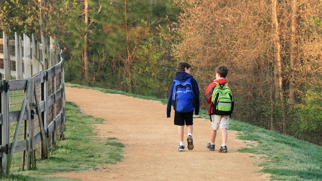 Walk to school with a friend