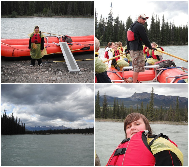 whitewater rafting, Athabasca River