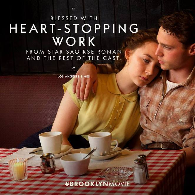 Brooklyn Nominated for Best Film Academy Award