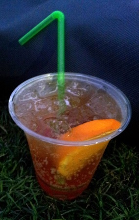 American Express Openair cinema, cinema, screen, drink, Aperol spritz
