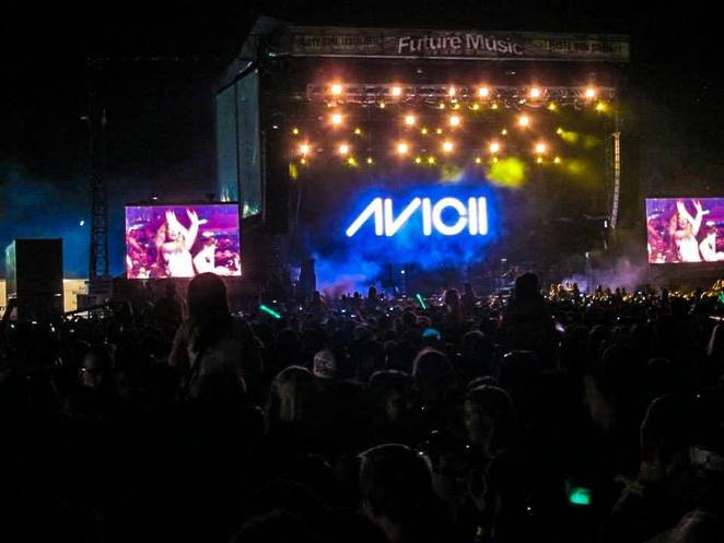 Avicii set during last year's Future Music Festival