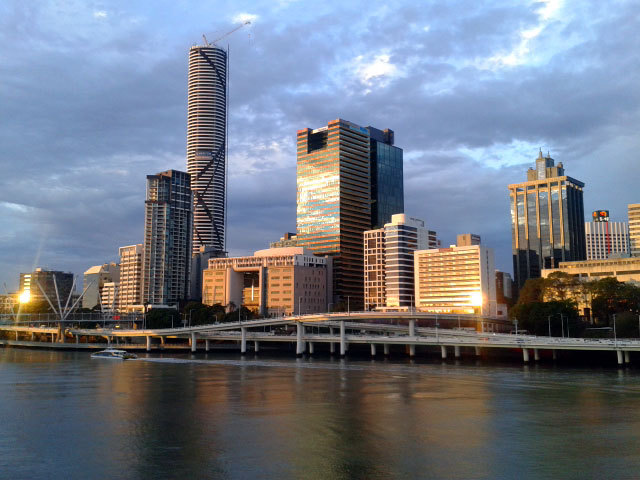 Brisbane seen from South Bank