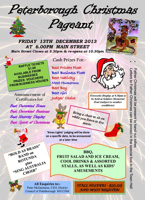 christmas, carols, pageant, christmas pageant, santa, free, adelaide, sa, children, poster