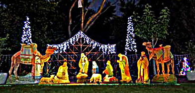 Christmas, Lane, Lights, Display, 2018, Lobethal, nativity, scene