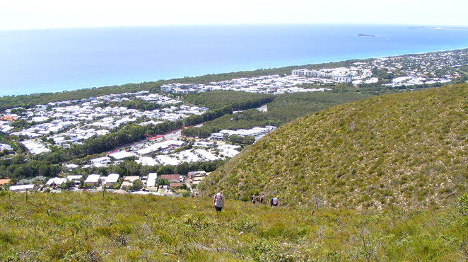 Coming up the alternative route up Mt Coolum