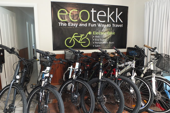 Ecotekk, Noosa Electric Bike Tours, long-term hire, e-bike tours, sales of e-bikes, half day, full day, two days, three days, Noosa Tour, North Shore, Surf Beach Trail, Peregian Beach, VelectriX Fatbike Tours, Beach Bash, Kin Kin overnight countryside tour, Lake MacDonald, Waterford Park, Mt Tinbeerwah Scenic Tour, fun for the family, Corporate functions, private groups, baby seats, baby trailers