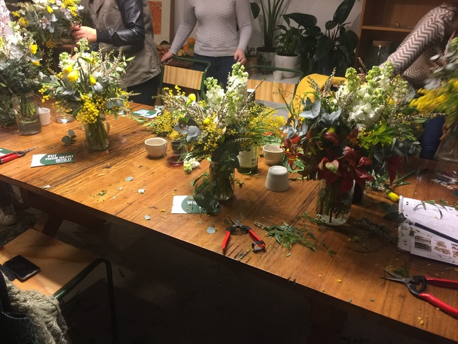 floristry, wild floristry, learn something new, hands on workshops, ethical workshops, flower arrangements, inner city workshops, grazing tables, make a posie, arts and crafts,
