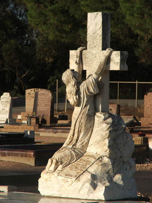 headstone, rock of ages, tombstone, Wallaroo Cemetery