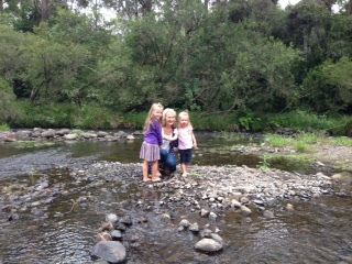 Kids playing O'Reilly's Vineyard Canungra