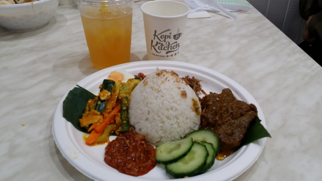 Kopi & Kitchen, Nasi Lemak with Beef Rendang, Adelaide