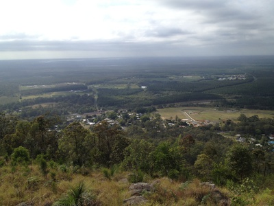 Looking down on the Beerburrum township